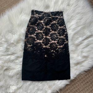 Corey Lynn Calter Lace Mesh Rosette Pencil Skirt!